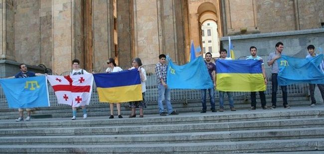 Action of solidarity with Crimean Tatar held in Tbilisi
