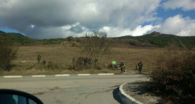 Military camp of Russian soldiers set up near Yalta (PHOTO)