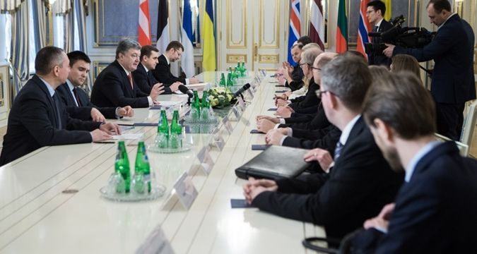 Poroshenko discussed de-occupation of Crimea with Nordic countries' parliaments