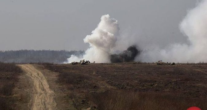 Car with Ukrainian soldiers blown up in Luhansk