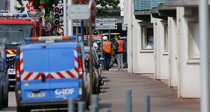 IS claimed responsibility for the church attack in France