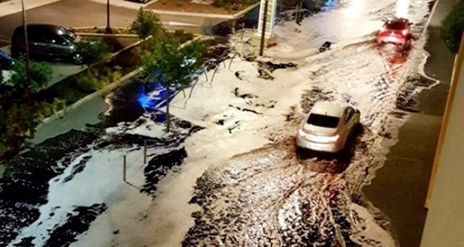 French city flooded with wine (PHOTO)