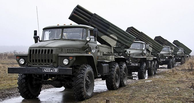 Russia deployed Grad rocket systems in Donbas