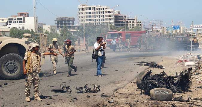 Suicide bomber blew up a training camp in Yemen