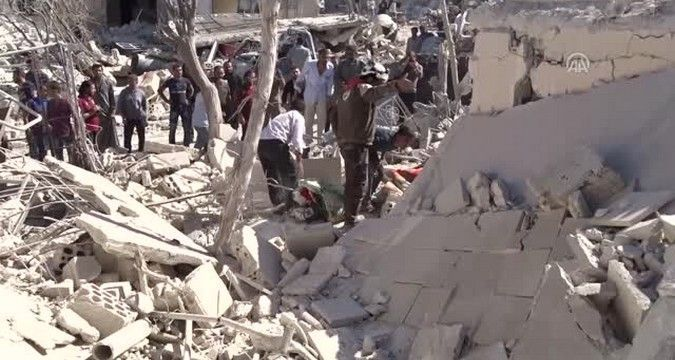 School with children bombed in Syria