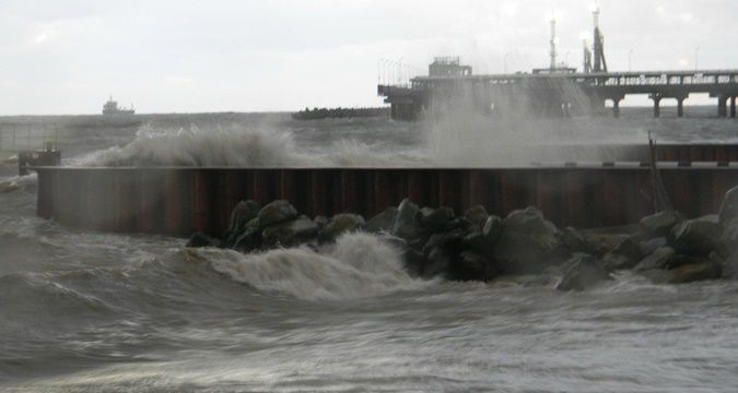 Kerch ferry suspended work due to storm