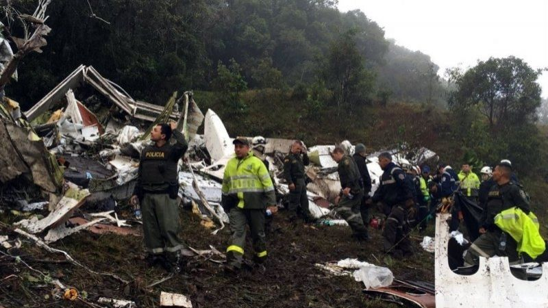 Number of victims of plane crash in Colombia specified