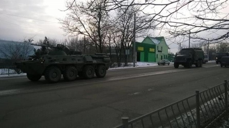 Occupants imported military equipment in Simferopol
