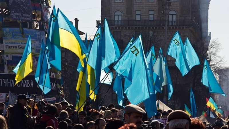 Rally in support of Crimeans began on Independence Square in Kyiv