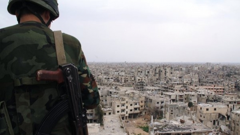 Military of Assad regime fleeing from Syria