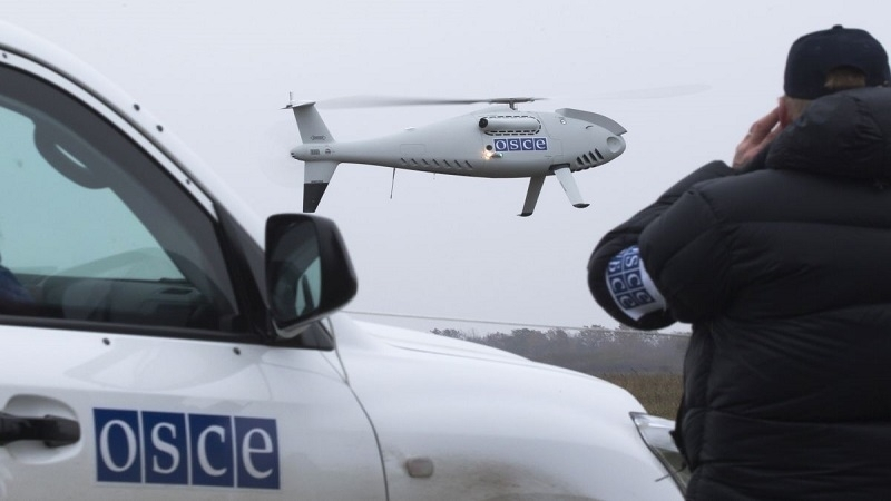 Pro-Russian invaders fired at OSCE drone