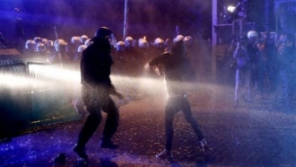 Clashes in Hamburg caused victims