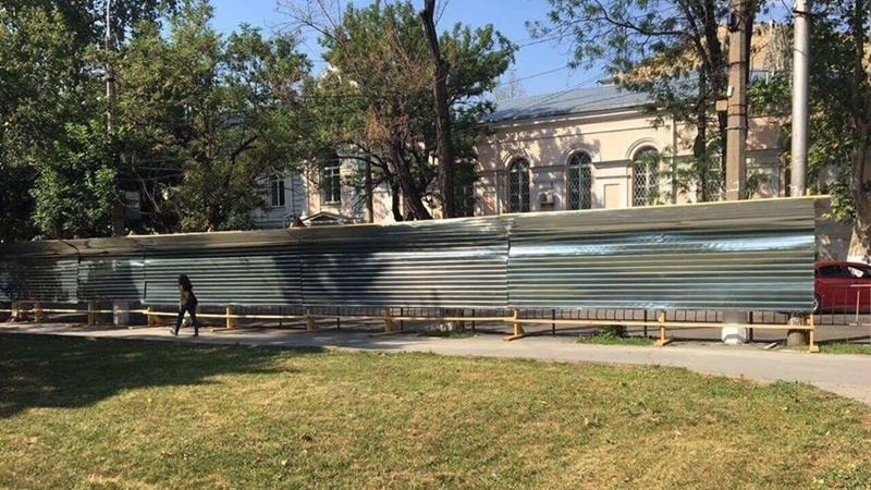 Simferopol court was fenced off from activists
