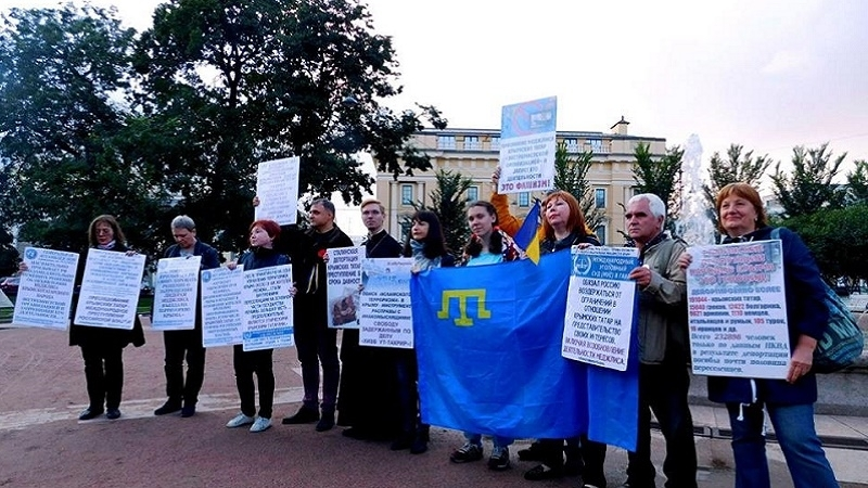 Another action in support of Crimean Tatars held in St.Petersburg