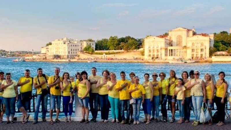 Rally in Sevastopol on the occasion of Ukrainian Flag Day
