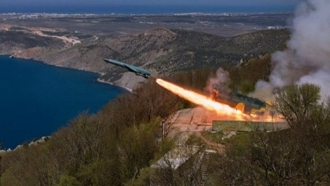 Russian invaders conducting exercise of Black Sea Fleet in Crimea