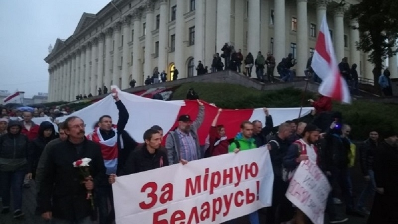 Protests against military exercise West-2017 in Belarus