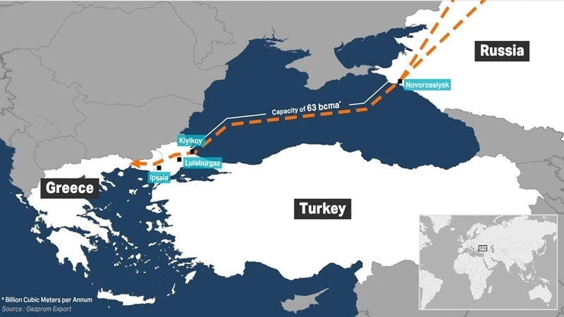 Gazprom constructed almost one third of Turkish Stream