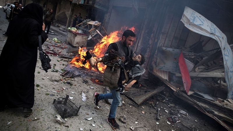 Russian bombs in Syria killed 38 refugees