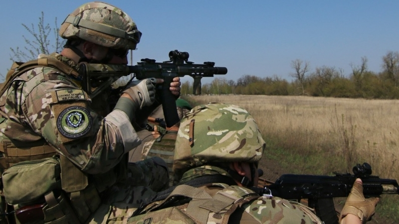 Ukrainian soldier got wounded in ATO zone