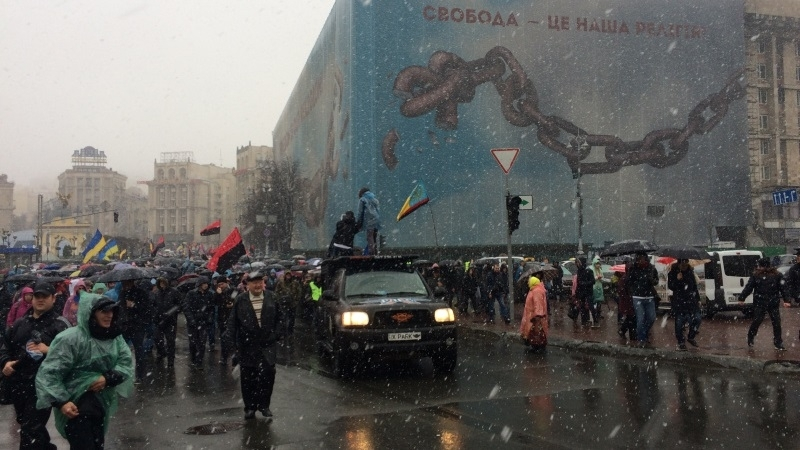 March of the indignant held in Kyiv