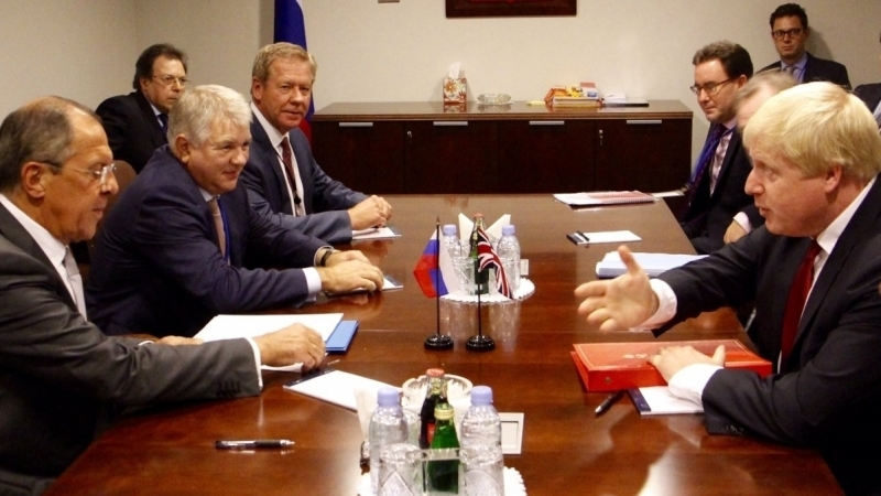 Johnson and Lavrov argued over aggressive foreign policy of Russia
