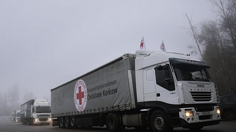 Trucks with humanitarian assistance arrived to Donbas