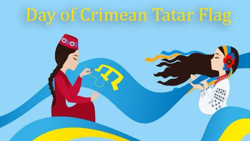 Crimean Tatar flags raised over embassies of Ukraine in the world