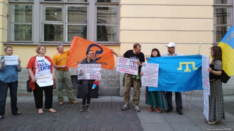 Participant of action in support of Sentsov in St. Petersburg arrested