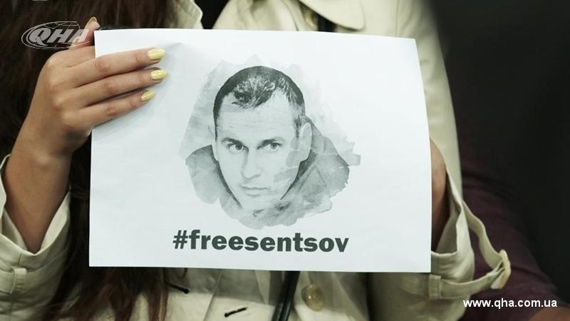 One-person pickets in support of Sentsov held outside Putin's administration